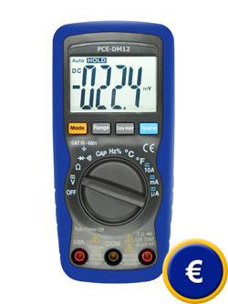 Ohmmètre digital PCE-DM 12 (CAT III 600V)