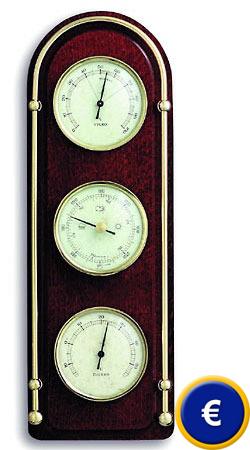 Station m t orologique domatic acajou for Thermometre interieur precis