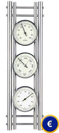 Station m t orologique domatic aluminium - Thermometre interieur precis ...