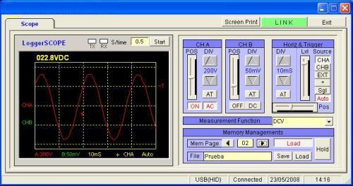 Sur cette photo vous pouvez voir la mesure de la tension avec les oscilloscopes