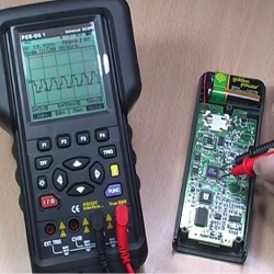 Verífication de la réponse échelonnée de la sortie du processeur avec un de nos oscilloscopes.