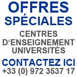 Offres spéciales pour centres d'enseignement et universités